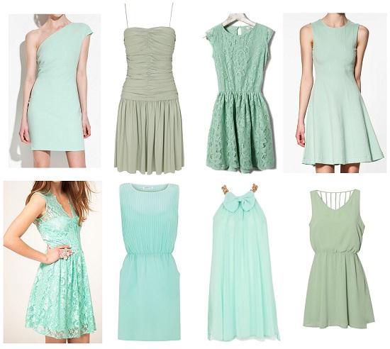Un vestido verde agua