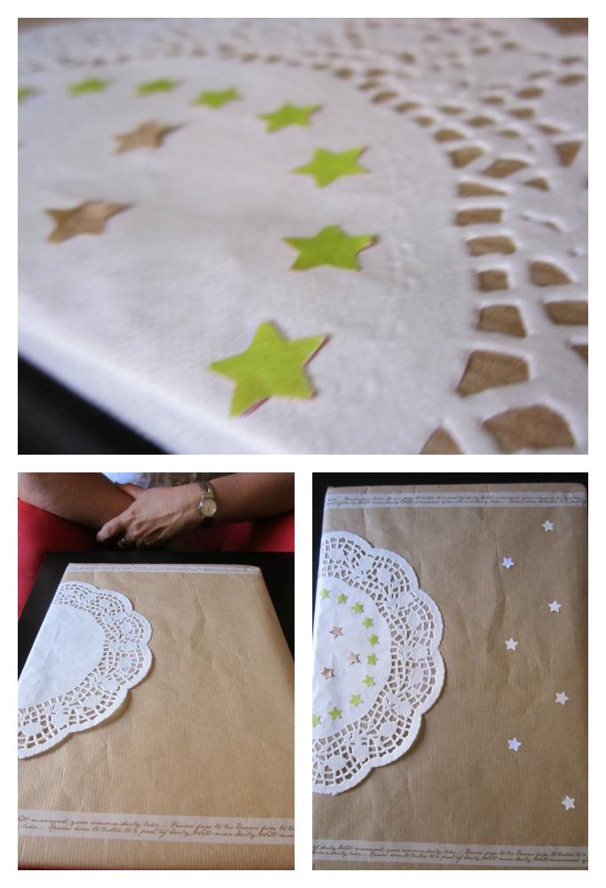 envoltorio de regalos de bodas para los novios collage