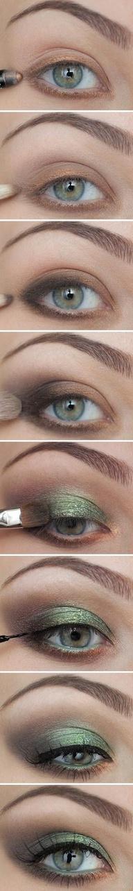 Cómo maquillarte los ojos de verde y estar guapa