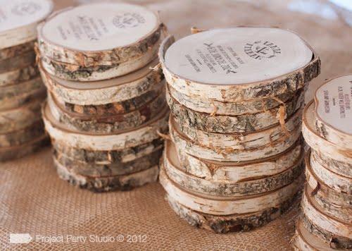 Parte De Matrimonio Rustico : Invitaciones en madera envidien mi boda