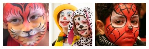maquillaje infantil  niños carnavales fiestas disfraces spiderman leon