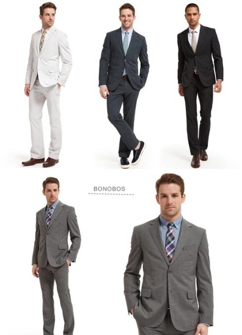 Novios trajes bonitos y elegantes