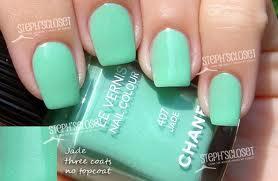 Esmaltes chanel verde aguamarina