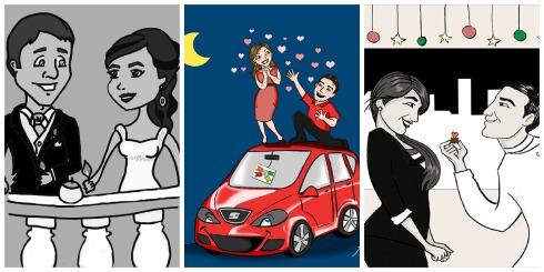 Cuentos Boda Ilustraciones Collage