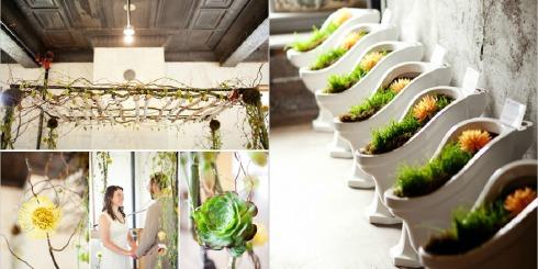 detalles con plantas para bodas Collage