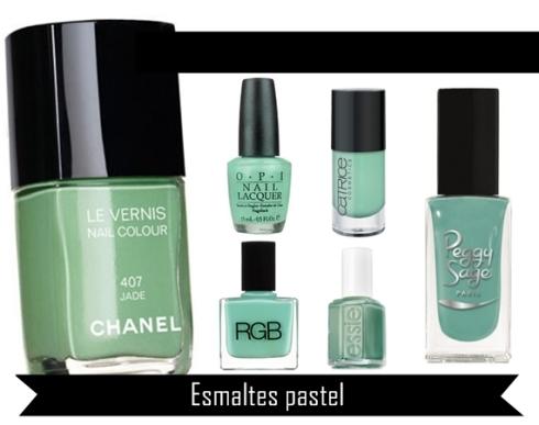 Esmaltes  verde agua para estar a la moda-Primavera 2013
