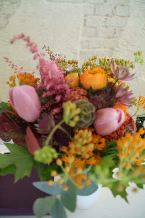 Ramos para bodas rúsitcas, campestres, silvestres, con estilo, originales, otoñales, primaverales, naranjas, rosas,
