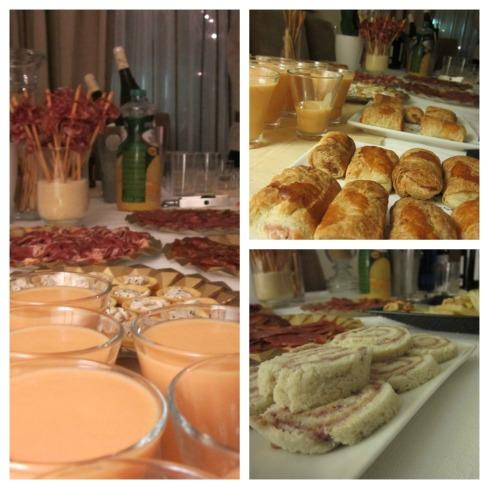 mesa de buffet  para fiestas en casa Collage