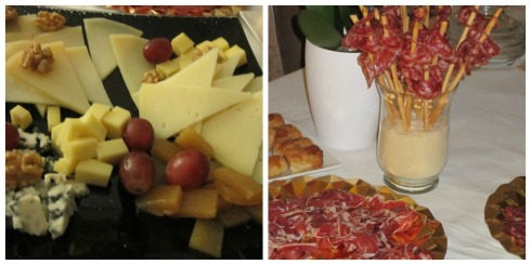 Tabla de quesos y jamón no pueden faltar en las fiestas en casa