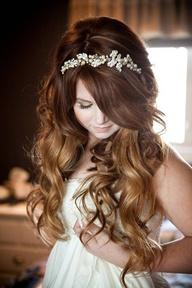Novias con el pelo suelto el día de su boda