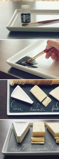 Cómo convertir una tabla o vaso o plato en pizarra