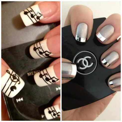 uñas musicales y de chanel Collage