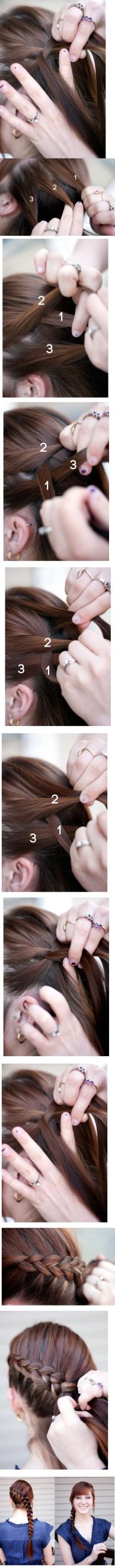 peinado trenza tutorial