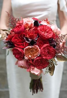 Ramos de novia Rojos y Granates