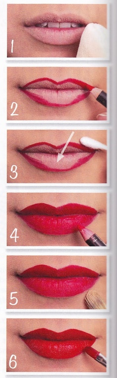 cómo pintarse bien los labios