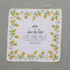 Invitación sobre tela de flores