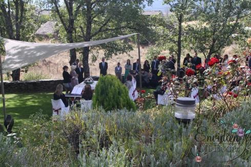 La ceremonia rústica de maria y pablo