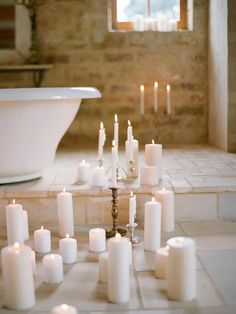 velas  para darte un baño relajante