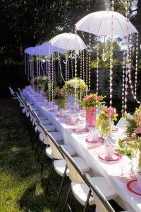 decoracion original boda con paraguas