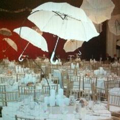 Decoracion con paraguas en boda 11