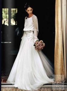 Vestido de novia con mangas largas 3