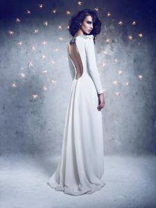 Vestido de novia con mangas largas1