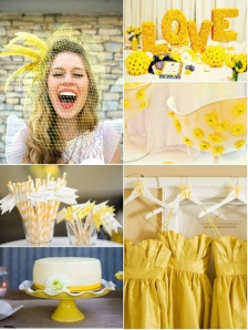 Decoracion boda en amarillo