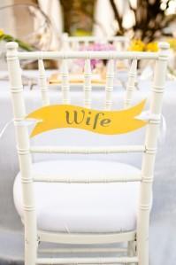 Detalles en amarillo. Decoración bodas