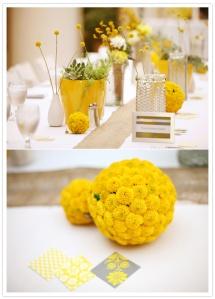 Bodas en amarillo y blanco