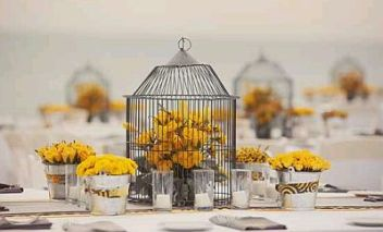 decoracion boda amarilla