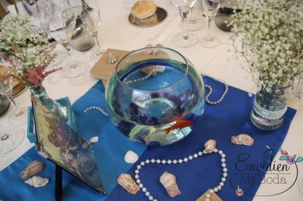 Decoración de boda la sirenita por envidienmiboda