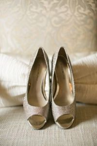 zapatos de novia dorados 1