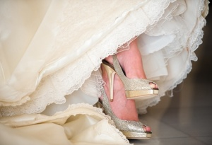 zapatos de novia dorados 4