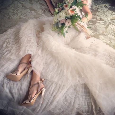 zapatos de novia dorados 5