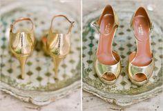 zapatos de novia dorados 6