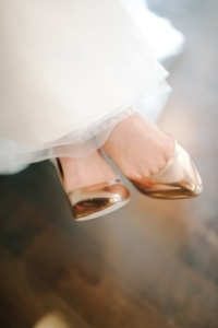 zapatos de novia dorados 9