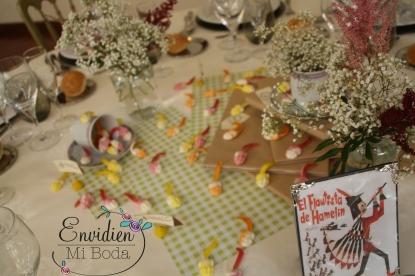 1 decoración de mesa fabula cuento boda