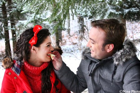 Winter Love Session inspirada en Blancanieves y su principe azul