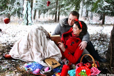 Winter Love Session basada en blancanieves