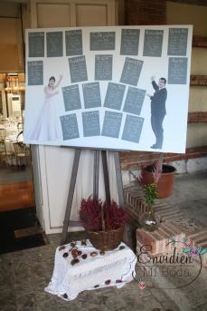 Seatting plan para boda inspirada en cuentos
