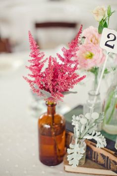 Astilbe como ramo para novias y decoración para bodas