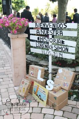 Cartel de bienvenida Boda Lorena & Simón Weddingplanner Madrid Guadarrama