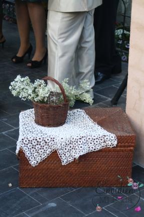 Córner para repartir guión de boda de la Boda Lorena & Simón Weddingplanner Madrid Guadarrama