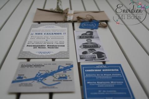 Invitación de boda vintage por MuchoChupchup y EnvidienMiBoda