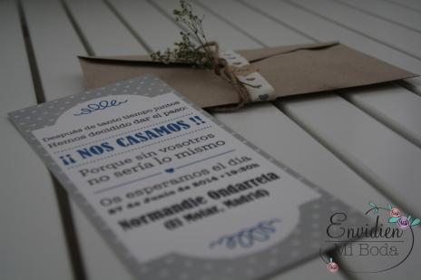 Invitación vintage por Mucho chup Chup & EnvidienMiBoda