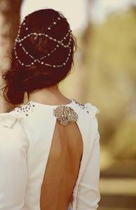 tocados con perlas