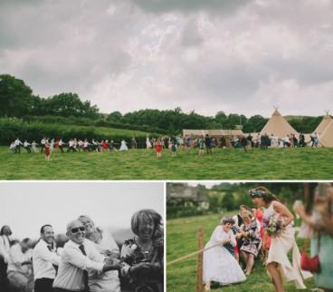 boda-informal-al-aire-libre-carpa-circo-novia-corona-de-flores-16
