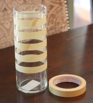 cómo pintar un jarrón de cristal