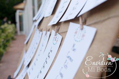 espacios exteriores seatting plan romantico boda se