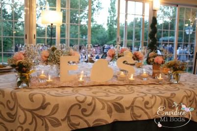 La mesa de novios de Sandra & Edu